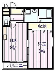 RESIDENCIAL PASSEIO 柏原堅下[2階]の間取り