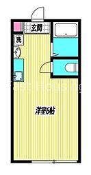 東京メトロ丸ノ内線 新高円寺駅 徒歩1分の賃貸アパート 1階1Kの間取り