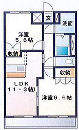 ビューテラス[2階]の間取り