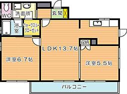 CSスタイル高須[3階]の間取り