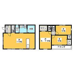 [一戸建] 栃木県宇都宮市下川俣町 の賃貸【/】の間取り