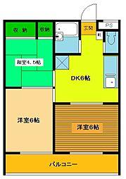 ドミールN[3階]の間取り