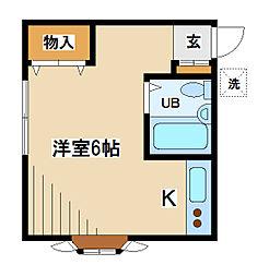 東京都府中市片町1丁目の賃貸アパートの間取り