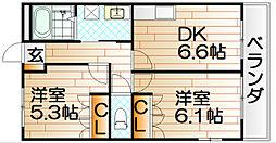 サンビレッジ 翔Ⅱ  [1階]の間取り