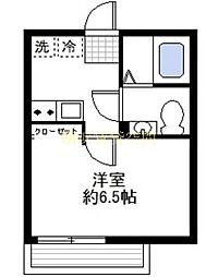 カーサ蒔田[2階]の間取り