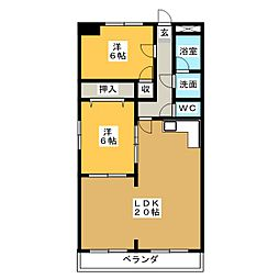半田第3ロイヤルマンション[1階]の間取り