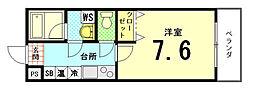 サニーハイツII[2-C号室]の間取り