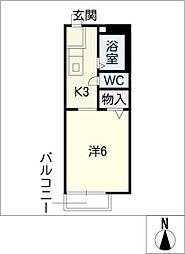 ピュアハイツ ハヤシ[1階]の間取り