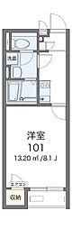 南海高野線 滝谷駅 徒歩17分の賃貸アパート 1階1Kの間取り