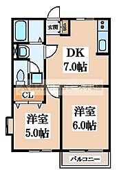 ローズハイツ[2階]の間取り