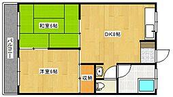恵荘[2階]の間取り