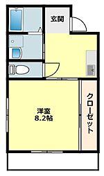 愛知県岡崎市稲熊町字5丁目の賃貸アパートの間取り