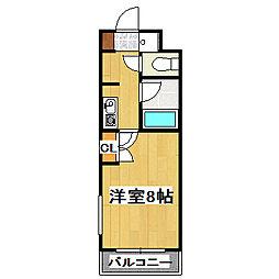 京都府京都市中京区最上町の賃貸マンションの間取り