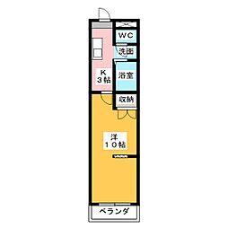 KURIMAマンション[3階]の間取り