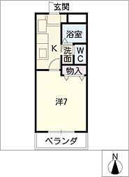 メゾンひまわり[3階]の間取り