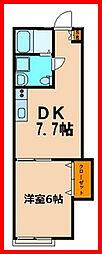 東京都葛飾区金町4丁目の賃貸アパートの間取り