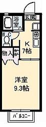 シャーメゾン エトワール[202号室]の間取り