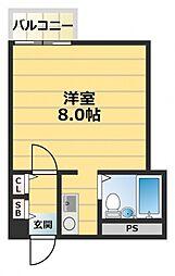 東大阪レジデンス[5階]の間取り