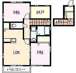 ネクスト吉村Ⅱ[2階]の間取り