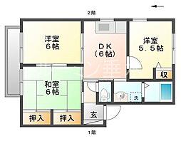 ヴィラソレイユA棟[1階]の間取り