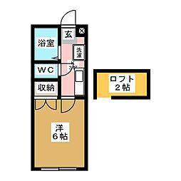 宮城県仙台市太白区西多賀5丁目の賃貸アパートの間取り