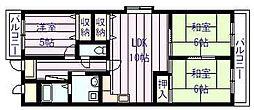 サニープレイスアオヤマ[3階]の間取り