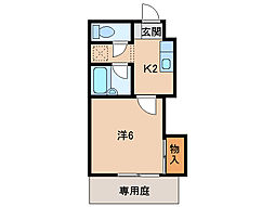 プライムハウス[1階]の間取り