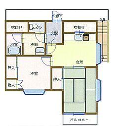 ベルシオン六会[2階]の間取り