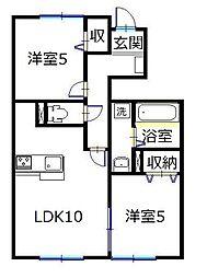 エグレッタコートA[1階]の間取り