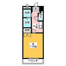 エクセルハイツ[1階]の間取り