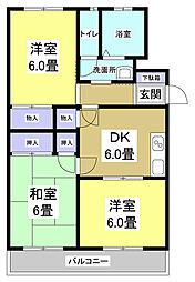 マンションK上島[2階]の間取り