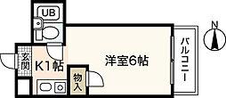 広島県広島市中区南千田東町の賃貸マンションの間取り