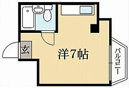 セントラル一乗寺[3階]の間取り