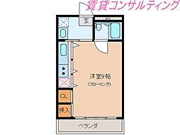 大海マンション[2階]の間取り