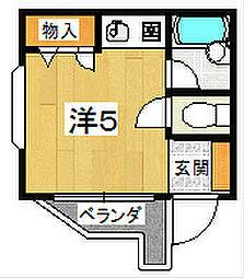 ベルカタノ[2階]の間取り