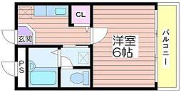 ハビテーション今宿[2階]の間取り
