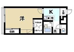 近鉄奈良線 近鉄奈良駅 バス9分 萩ヶ丘町下車 徒歩2分の賃貸アパート 1階1Kの間取り