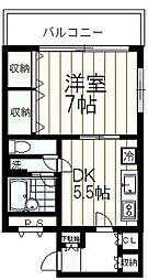 クライス伊藤[404号室]の間取り