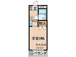 京都府京都市伏見区西尼崎町の賃貸マンションの間取り