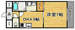 大阪府大阪市東淀川区淡路4丁目の賃貸マンションの間取り