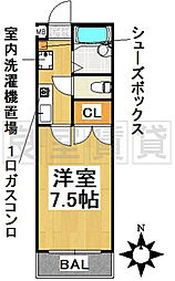 愛知県名古屋市千種区清住町2丁目の賃貸マンションの間取り