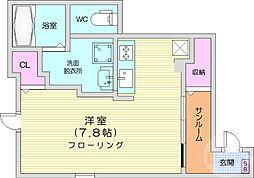 仙台市営南北線 八乙女駅 徒歩9分の賃貸アパート 1階1Kの間取り