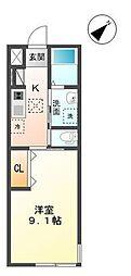 袖ケ浦市代宿97番5他新築アパート[101号室]の間取り