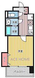Luxe新大阪III[705号室号室]の間取り
