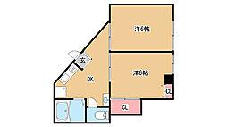 兵庫県神戸市灘区城内通4丁目の賃貸マンションの間取り