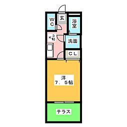 メゾン・マ・シャンブルII[1階]の間取り