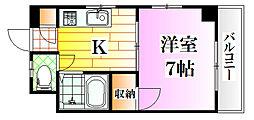広島県広島市南区東本浦町の賃貸マンションの間取り