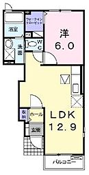 香川県高松市鶴市町の賃貸アパートの間取り