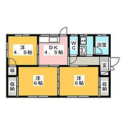 [一戸建] 岐阜県羽島市上中町長間 の賃貸【/】の間取り