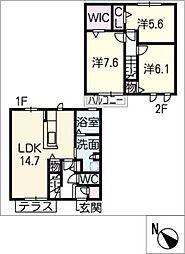 [タウンハウス] 三重県津市観音寺町 の賃貸【/】の間取り